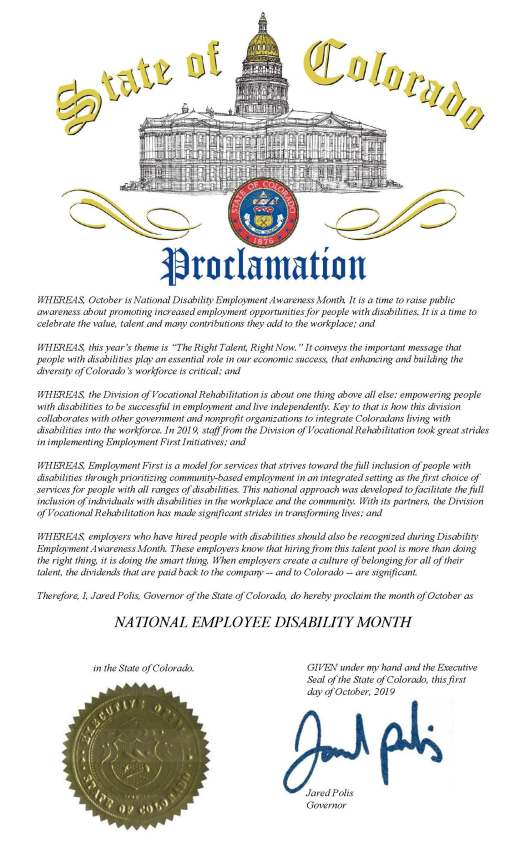 National Disability Employment Awareness Month Proclamation